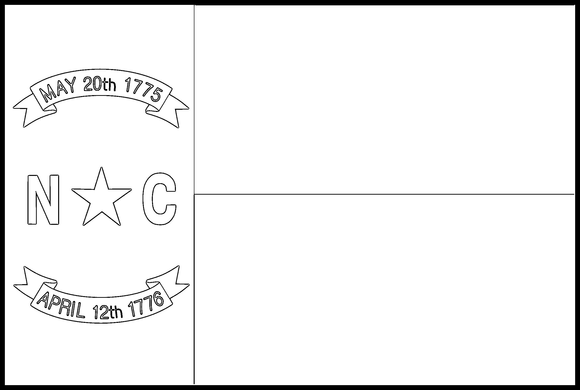 North_Carolina Flag Coloring Page