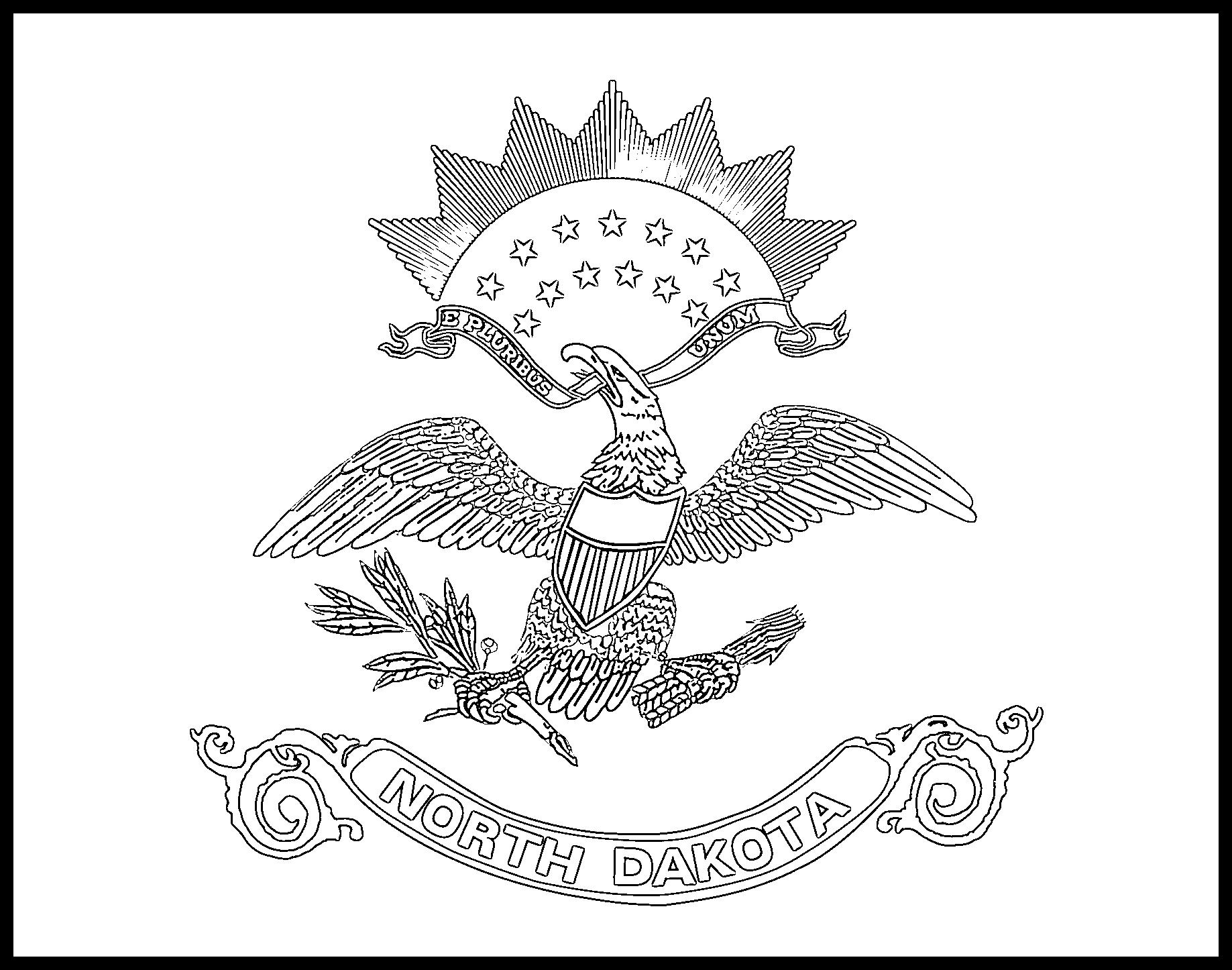 North_Dakota Flag Coloring Page