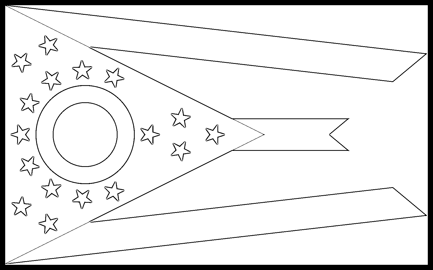 Ohio Flag Coloring Page