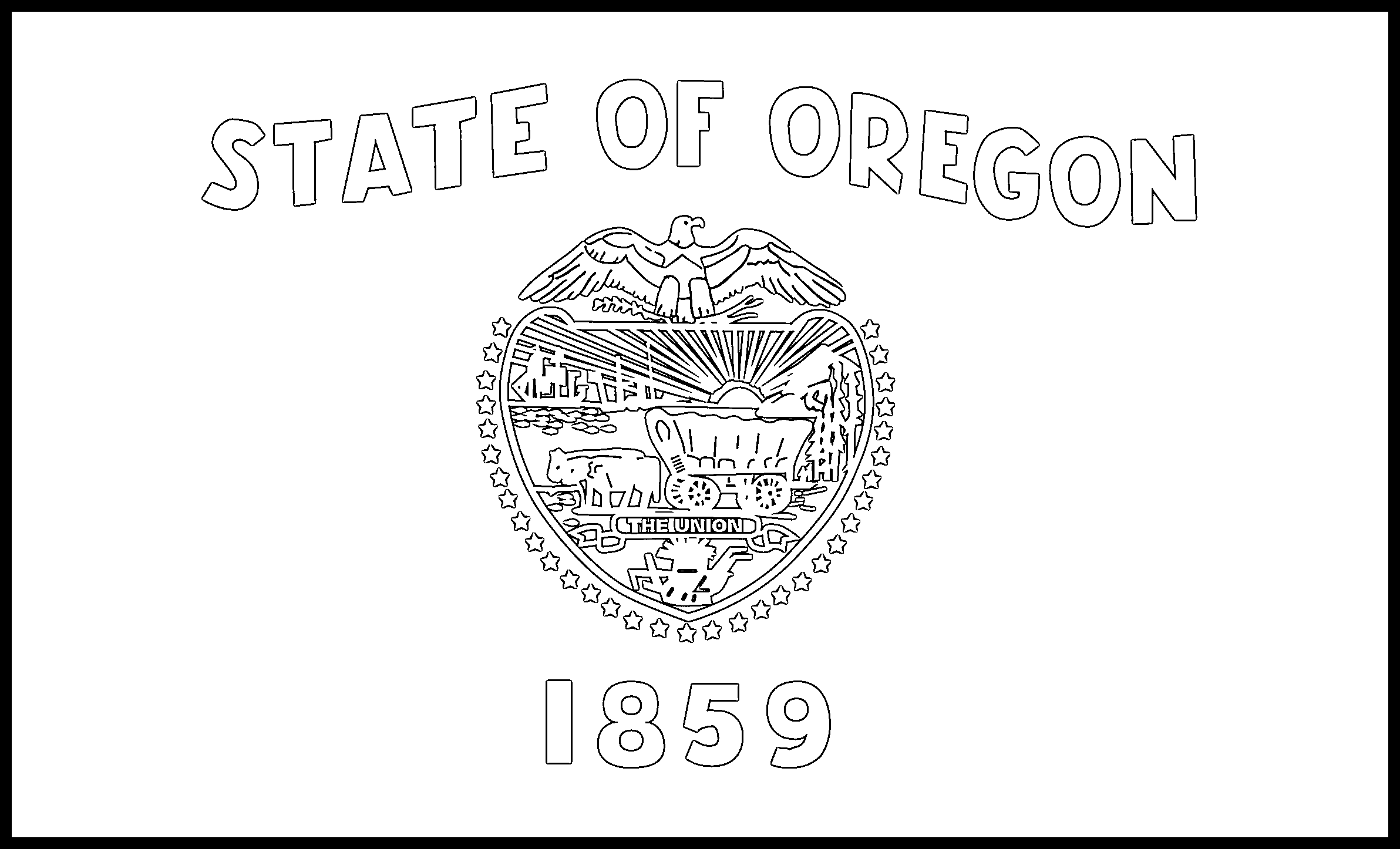 Oregon Flag Coloring Page