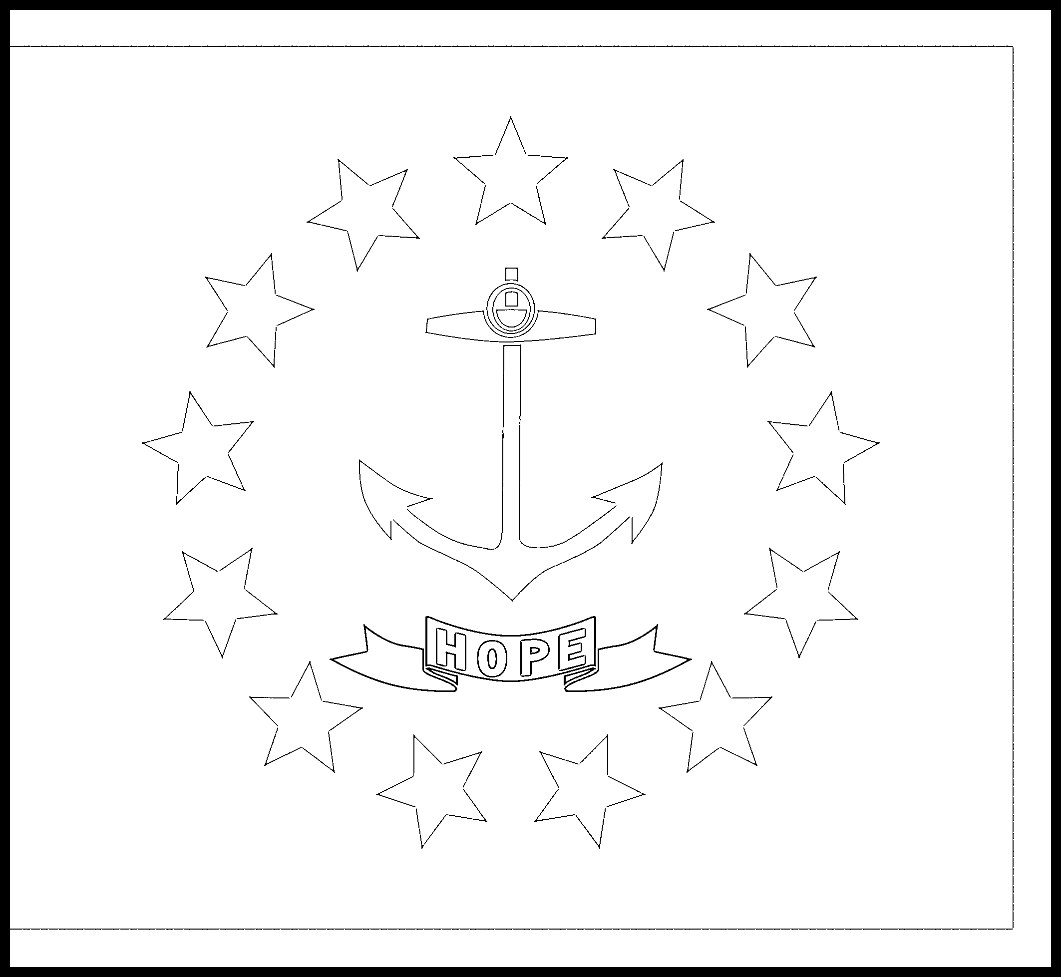 Rhode_Island Flag Coloring Page