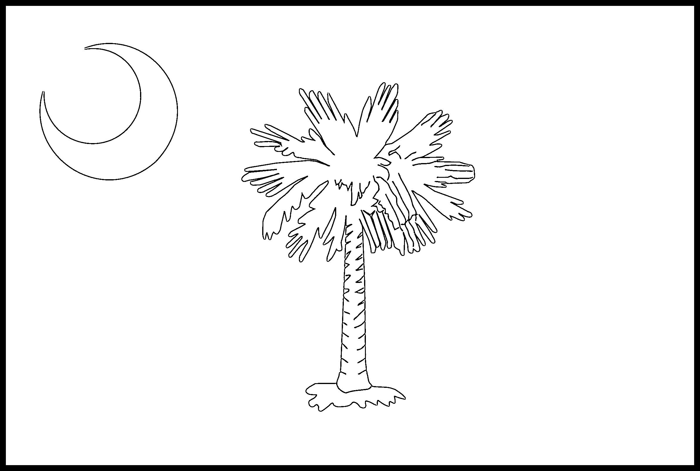 South_Carolina Flag Coloring Page