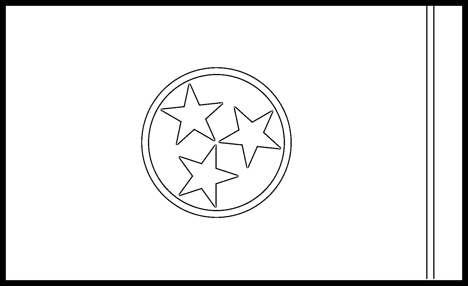 Tennessee Flag Coloring Page