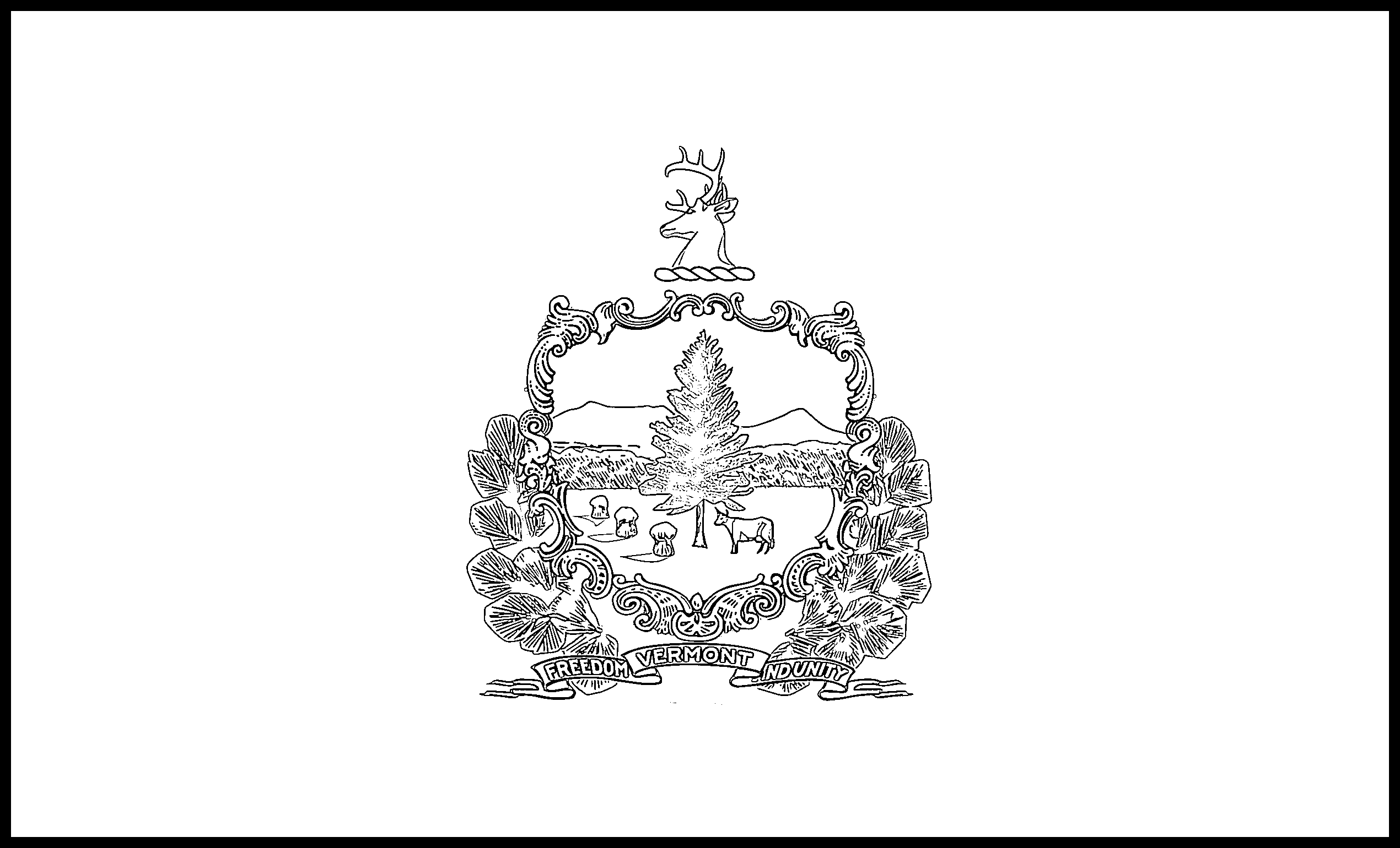 Vermont Flag Coloring Page