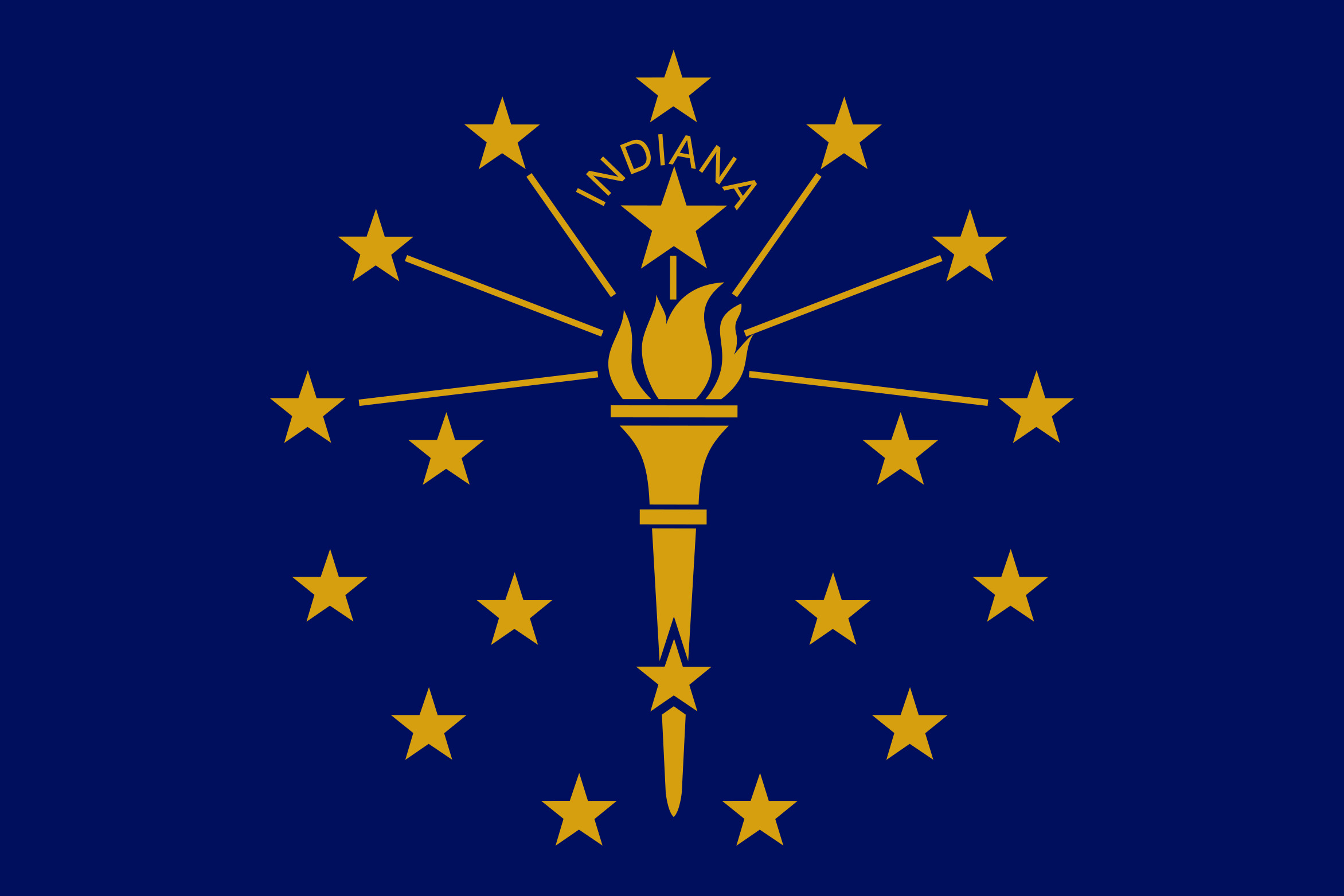 Indiana State Flag Colors