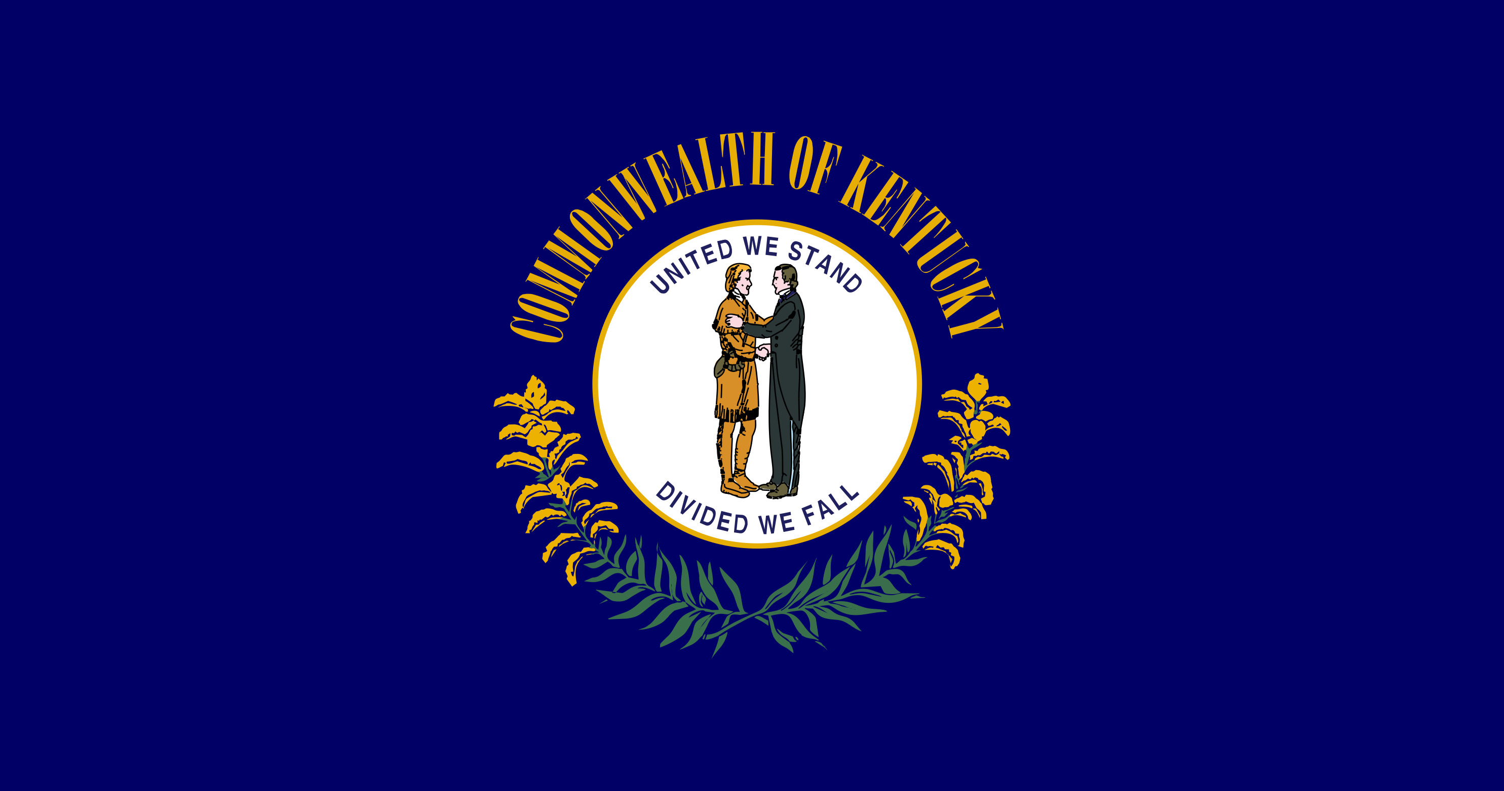 Kentucky State Flag Colors