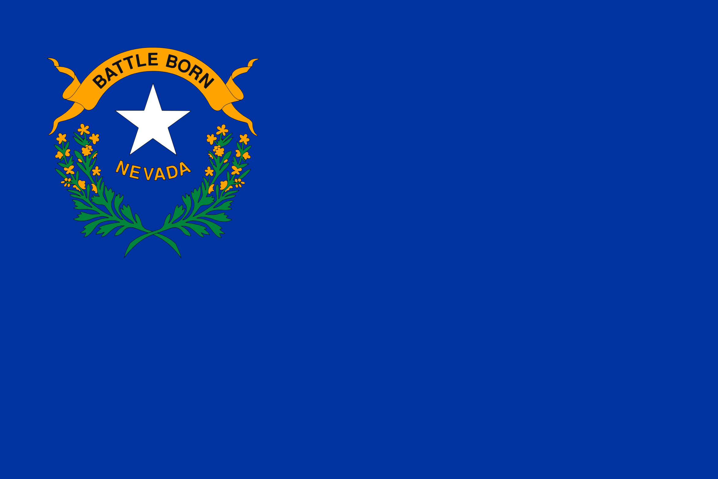 Nevada State Flag Colors