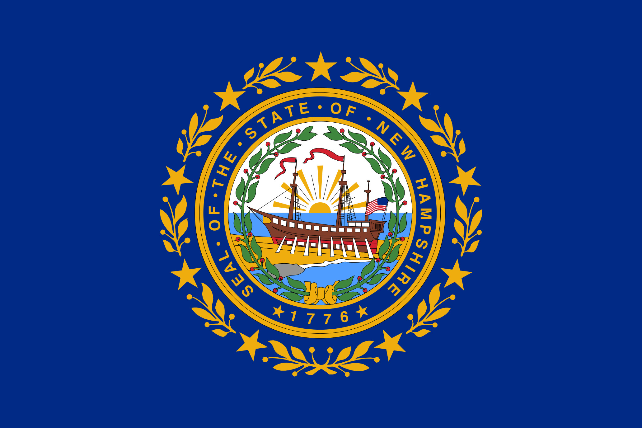 New Hampshire State Flag Colors