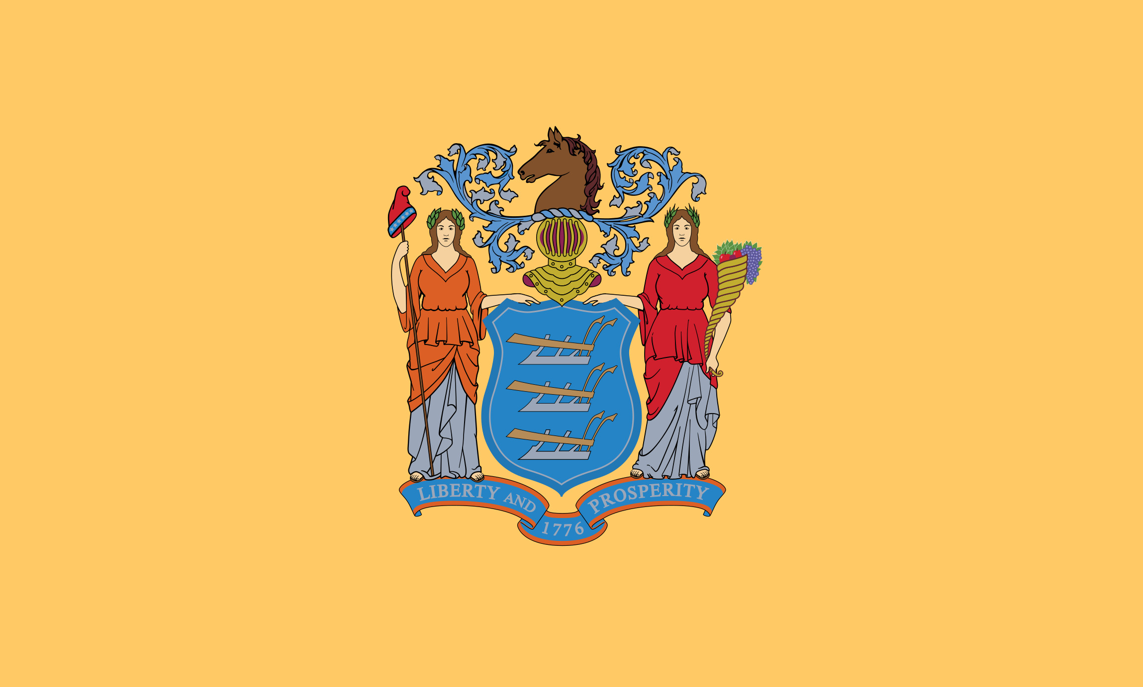 New_Jersey State Flag Colors