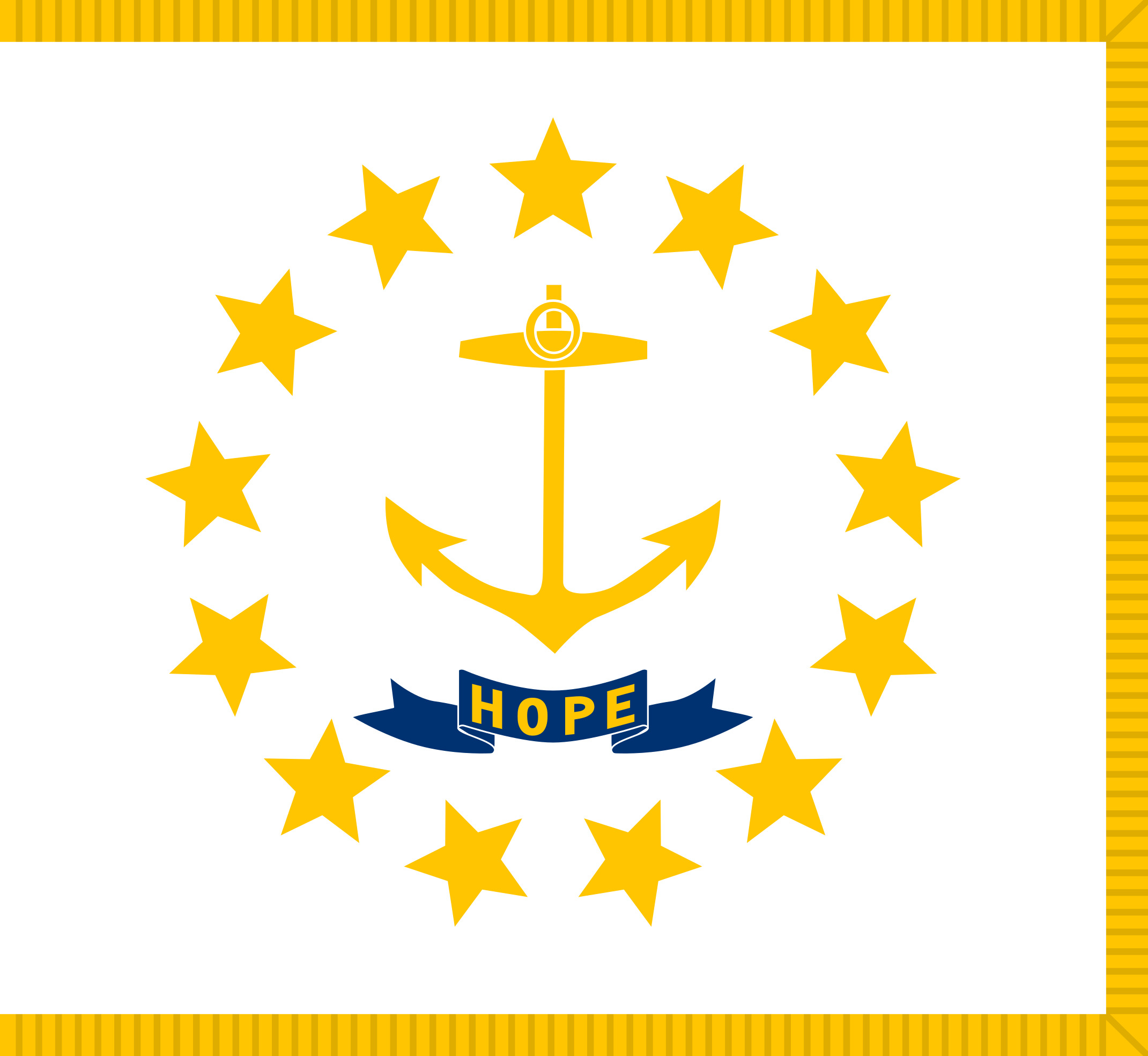 Rhode_Island State Flag Colors