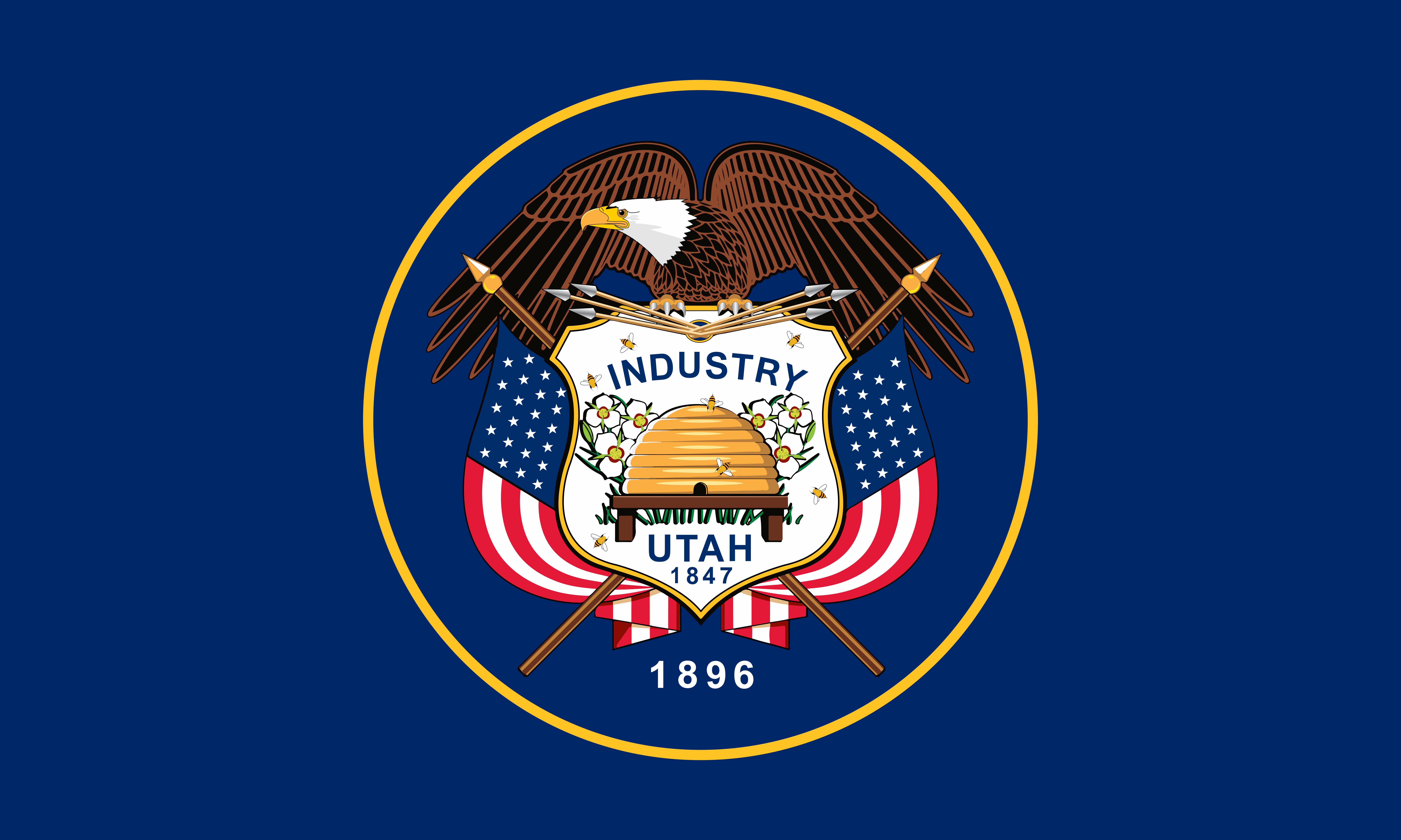 Utah State Flag Colors