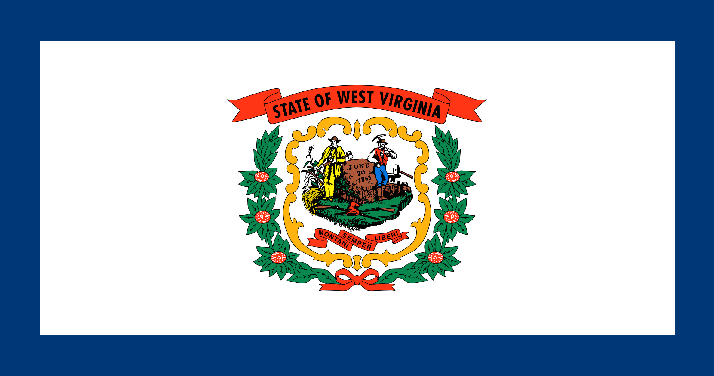 West Virginia State Flag Colors