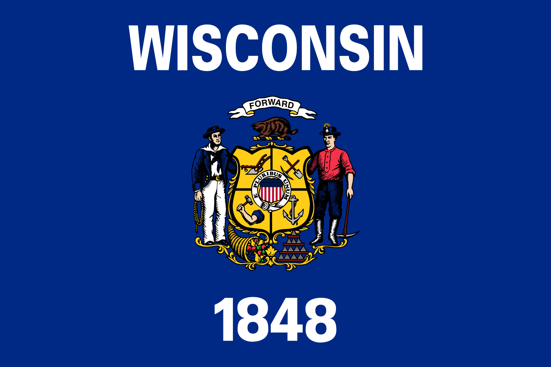 Wisconsin State Flag Colors