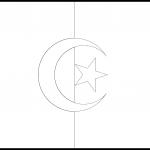 Algeria Flag Colouring Page