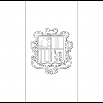 Andorra Flag Colouring Page