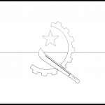 Angola Flag Colouring Page