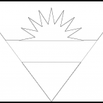 Antigua and Barbuda Flag Colouring Page