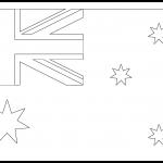 Australia Flag Colouring Page