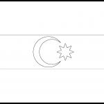 Azerbaijan Flag Colouring Page