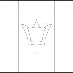 Barbados Flag Colouring Page