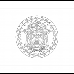 Belize Flag Colouring Page