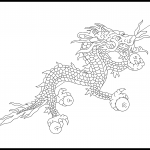 Bhutan Flag Colouring Page