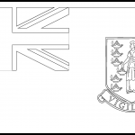 British Virgin Islands Flag Colouring Page