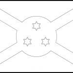 Burundi Flag Colouring Page