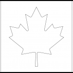 Canada Flag Colouring Page