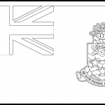 Cayman Islands Flag Colouring Page