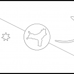 Christmas Island Flag Colouring Page