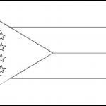 Comoros Flag Colouring Page