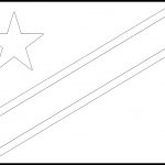 Cook Islands Flag Colouring Page
