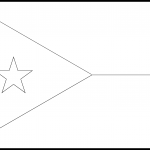Djibouti Flag Colouring Page