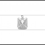 Egypt Flag Colouring Page