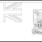 Falkland Islands Flag Colouring Page