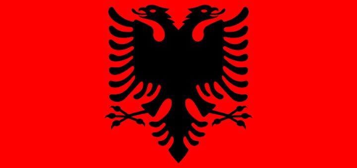 Albania flag vector - free download