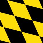 Flag of Munich lozengy