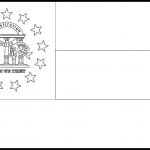 Georgia Flag Coloring Page - State Flag Drawing