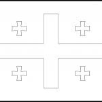 Georgia Flag Colouring Page