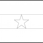 Ghana Flag Colouring Page