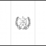 Guatemala Flag Colouring Page