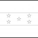 Honduras Flag Colouring Page