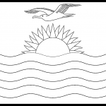 Kiribati Flag Colouring Page