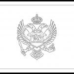Montenegro Flag Colouring Page