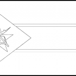 Mozambique Flag Colouring Page