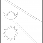 Nepal Flag Colouring Page