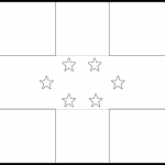 Netherlands Antilles Flag Colouring Page