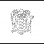 New Jersey Flag Coloring Page – State Flag Drawing