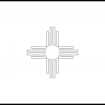 New Mexico Flag Coloring Page – State Flag Drawing